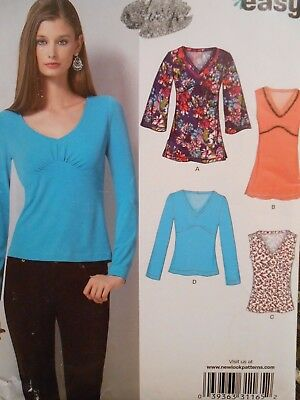 NEW LOOK EASY TOP in 4 styles PATTERN 6753 SIZE 6 8 10 12 14 16