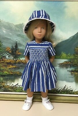 Sasha 3 Piece Set (clothes only) Hand Smocked By Kath Barnett