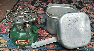 Vtg Coleman Sportster 1969 502 -Single Burner  Stove Aluminum Case With Handle