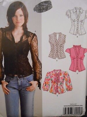 NEW LOOK TOP in 4 styles PATTERN 6621 SIZE 6 8 10 12 14 16