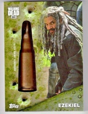 Topps The Walking Dead Season 7 Ezekiel Shell Casing Ammo Relic Card #'d 2/20
