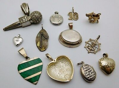 MISCELLANEOUS Sterling Silver Ladies Pendants Lot