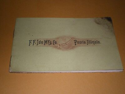 Old 1895 F F Ide Mfg Co. Peoria Illinois Ide High Art Bicycles Catalog w/ Prices