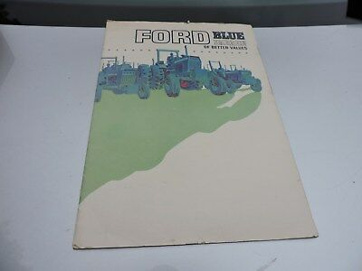 Vintage Ford Blue Parade of Better Values Tractor Sales Guide