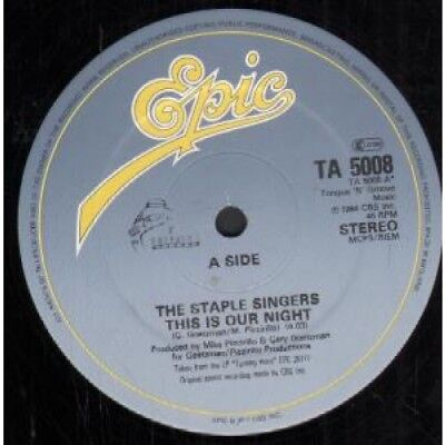 "STAPLE SINGERS This Is Our Night 12"" VINYL UK Epic 1984 3 Track B/W Right"
