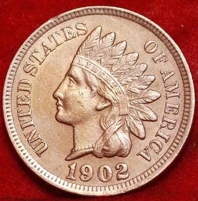Uncirculated 1902 Philadelphia Mint Copper Indian Head Cent Free S/H