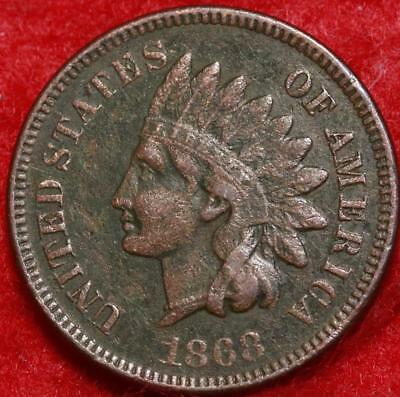 1868 Philadelphia Mint Copper Indian Head Cent Free Shipping