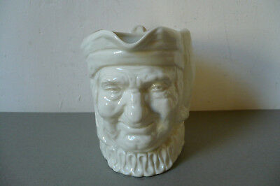 Royal Doulton Toby Jug. Large. All White. 'A' Mark. 1930's