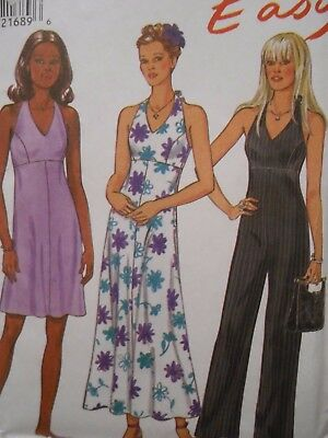 New Look Easy Dress And 1 Piece Jump Suit Pattern 6757 Size  8 - 18