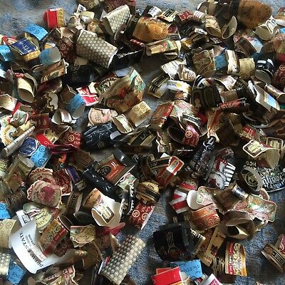 Lot of Used Cigar Labels/ Bands Tobacco Stogie Goodies Mixed 200+ Pcs!