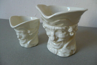 Royal Doulton Toby Jugs (2) All White. 'A' Mark. 1930's