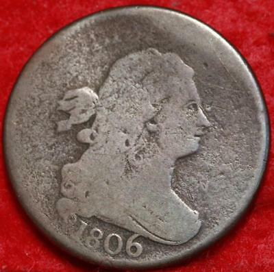 1806 Philadelphia Mint Copper Draped Bust Half Cent Free Shipping