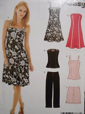 New Look Easy Dress Top Pants & Shorts  Pattern 6468 Size  6 - 16