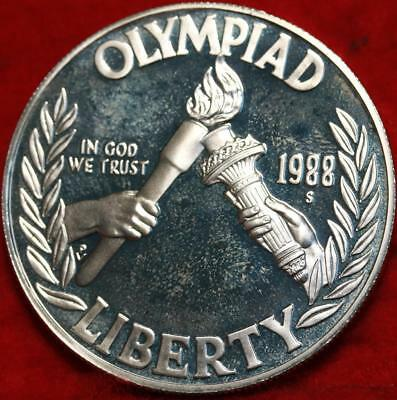 Uncirculated Proof 1988-S San Francisco Mint Olympic Silver Dollar Free S/H!
