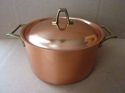 Revere 1801 Signature collection 3 qt copper pot with cover made in USA nos