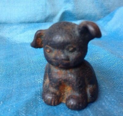 Vintage Hines Pup Dog Figure Cast  Iron Metal paperweight