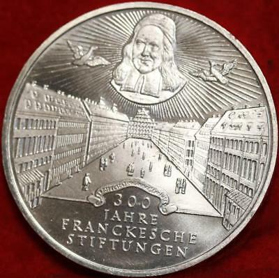 Uncirculated 1998-A Germany 10 Mark Foreign Silver Coin Free S/H