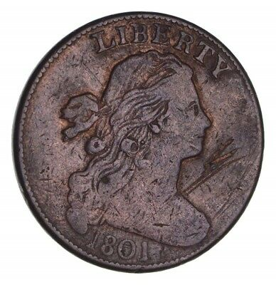 1801 Draped Bust Large Cent - Circulated *1375
