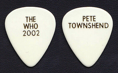 The Who Pete Townshend White Guitar Pick - 2002 Tour