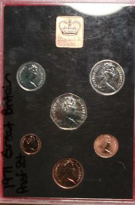 Uncirculated 1971 Great Britain Proof Set With Princess Diana Coin Free S/H