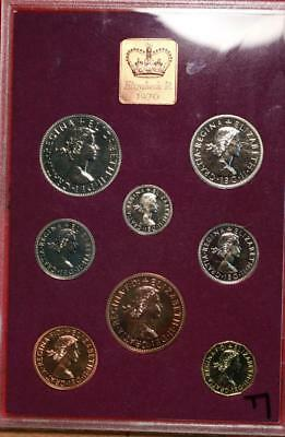 Uncirculated 1970 Great Britain Proof Set With Princess Diana Coin Free S/H