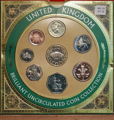 Uncirculated 1999 United Kingdom Brilliant Coin Collection Free S/H