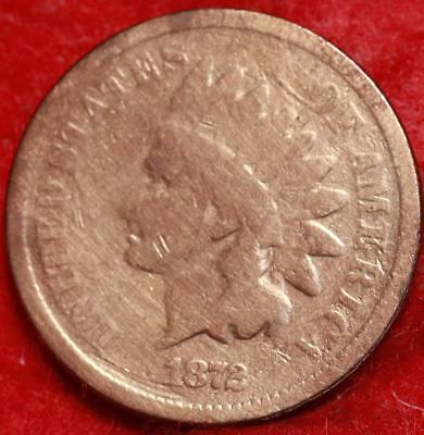 1872  Philadelphia Mint Copper Indian Head Cent Free Shipping