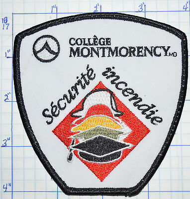 Canada, College Montmorency Quebec Securite Incendie Fire Safety Officer Patch