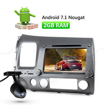 """8"""" HD Android 7.1 Car Stereo Radio DVD Player for Honda Civic 1080P + Dashcam L"""