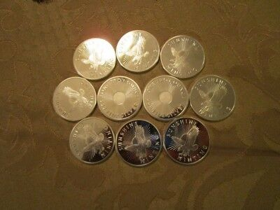 Lot of 10 1 oz silver rounds Sunshine mint .999 fine silver brilliant