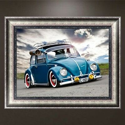 DIY 5D Car Diamond Embroidery Painting Cross Crafts Stitch Home Wall Decor Kit
