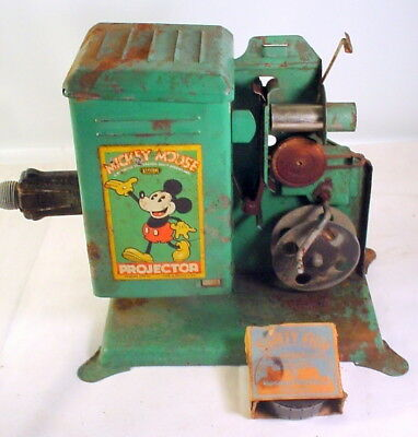 VINTAGE 1930S MICKEY MOUSE KEYSTONE PROJECTOR MODEL E-18 1 Film