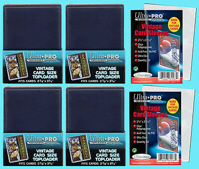 100 Ultra Pro VINTAGE Sport CARD SLEEVES TOPLOADERS Topps Bowman 1952-56 Trading