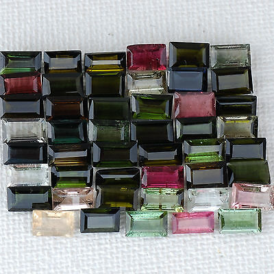 23.00 Cts/47 Pcs Untreated Top Quality Multi Color Natural Tourmalines Gemstones