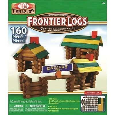 Poof Slinky 160 Pieces Frontier Logs Canister