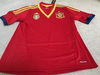 Spain  Home Football Shirt Adidas Climacool Size L Bnwt