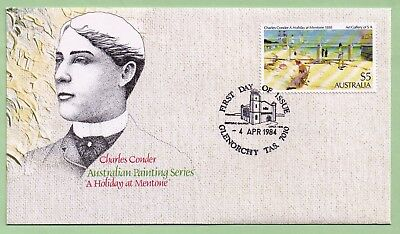 1984  First Day Cover:  CHARLES  CONDER - Australian Painting Series  ($5 denom)