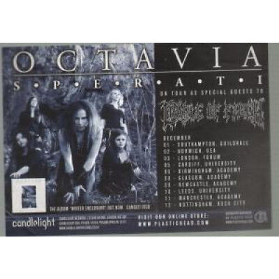 OCTAVIA (METAL) Sperati FLYER UK Candlelight A6 Flyer For Album And Tour