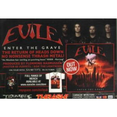 EVILE/SANCTITY Enter The Grave/Bonded By Bloodshed FLYER UK Earache A6