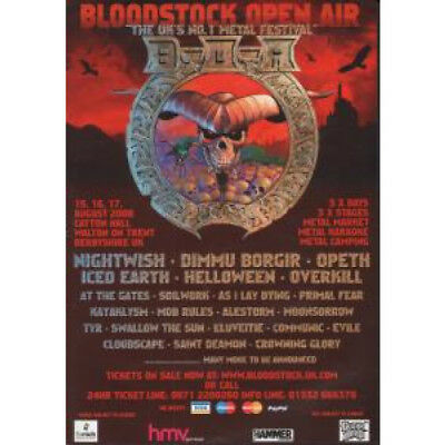 BLOODSTOCK 2008 S/T FLYER UK 2008 A5 Single-Sided Flyer For Festival With