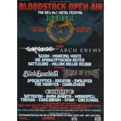 BLOODSTOCK OPEN AIR S/T FLYER UK Amust4Music 2009 A5 Flyer For Music Festival