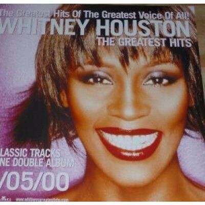 """WHITNEY HOUSTON Greatest Hits POSTER UK Arista Official 11"""" X 11"""" Promo Poster"""
