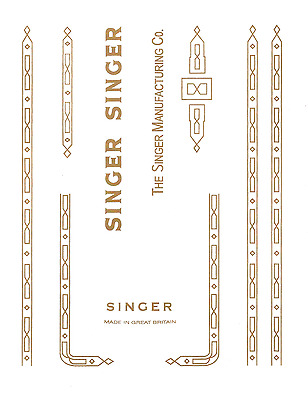 Singer Model 201K Sewing Machine  Waterslide Restoration Decals