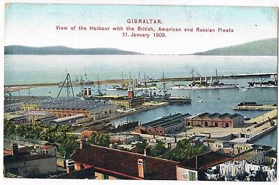 Gibraltar - British, American & Russian Fleets, In The Harbour, 31. Jan, 1909