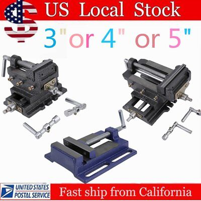 "Cross Slide Vise 3/4/5"" Wide Drill Press  X-Y Clamp Milling Heavy Duty 2 Way SE"