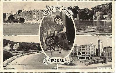 Swansea - Greetings - Posted Postcard