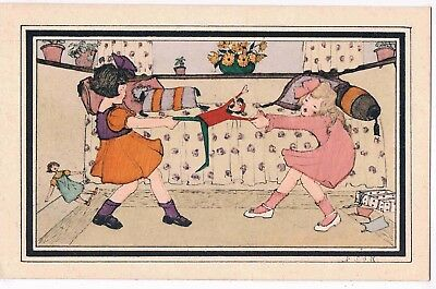 CHILDREN - BY D.S.d R. - TWO GIRLS TUSSLING OVER A TOY, 1920s