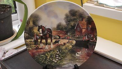 Royal Doulton Decorative Plate  The First Lock From Life On The Waterways Series