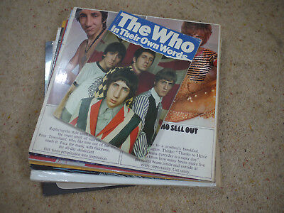 THE WHO Job Lot Record Collection many rarities