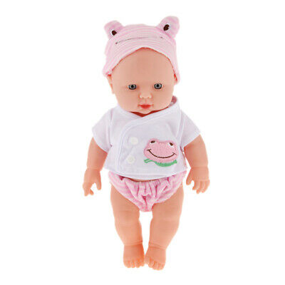 12'' Lifelike Vinyl Silicone Baby Doll Soft KID GIRLS TOY XMAS GIFT Pretend Game